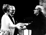 Ronnie Barker Comedian Receives Award as Light Entertainment Performer of 1978 from Princess Anne