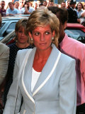 Princess Diana Arrives at the English National Ballet in South Kensington For a Informal Lunch