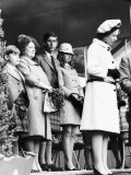 Queen Elizabeth II Standing with Her Children Prince Charles  Princess Anne and Prince Andrew