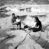 Prince Charles and Princess Anne with Their Uncle Lord Mountbatten on the Island of Malta