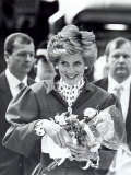 Princess Diana of Wales Arriving at Newcastle Central Station