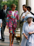Prince Charles and Princess Diana with Prince Edward and Queen Mother January 1993