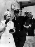 Queen Elizabeth II Visit Hms Norfolk July 1972 and is Shown Around by Prince Charles