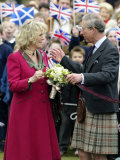Charles and Camilla Open New Childrens Playground at Ballater  Scotland