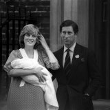 Prince Charles Princess Diana Prince William Outside Hospital After Birth  June 1982