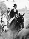 Prince Charles on the Duke of Beaufort's Hunt in the Gloucester Countryside