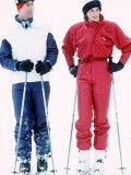 Prince and Princess of Wales Skiing at Malbun  Liechtenstein January 1984