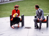 Prince and Princess of Wales at Caernarvon During Tour of Wales  October 1981