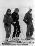 Prince Charles  Princess Diana  Duchess of York Skiing Down an Off-Piste Ski Slope During Holidays