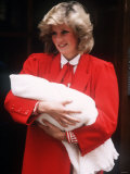 Prince Harry Being Held by His Mother Princess Diana Soon After His Birth