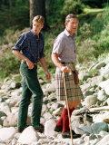 Prince Charles with Sons at Balmoral