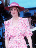 Princess Diana in Australia at the Sydney Opera House Wearing a Pink Floral Dress March 1983
