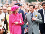 Prince and Princess of Wales at Guards Polo Club  Windsor June 1983