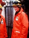 Princess Diana on the North Sea Oil Rig