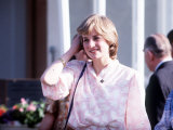 Lady Diana Spencer Attending Polo at Windsor Pink Top - Princess Diana July 1981
