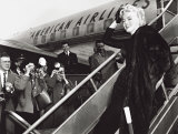 Marilyn Monroe Boards Airplane  New York  c1956