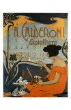 A Calderoni Gioiellerie, c.1898 Reproduction d'art par Adolfo Hohenstein