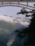 Truck Passing Over the New River Gorge Bridge