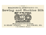 Brainerd and Armstrong Co Sewing and Machine Silk
