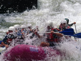 Rafters Making Their Way Through Rapids on the Gauley River