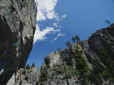Climber Scales a Cliff in Skaha Bluffs