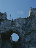 Erosion Carves a Window Into Limestone Rock in Nahanni National Park