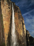 View of Cascading Angel Falls  One of the World&#39;s Highest Waterfalls