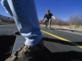 Skateboarders on a Smooth Road