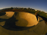 Skateboarding in a Skate Park