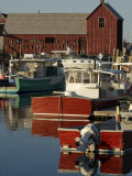 Rockport Harbor with Lobster Fishing Boats  Row Boats