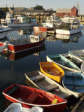 Lobster Fishing Boats and Row Boats in Rockport Harbor  Ma