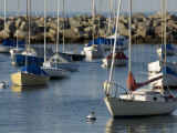 Sailboats in Rockport Harbor  Ma