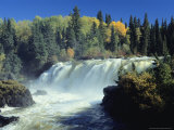 The Grass River Thunders Over Pisew Falls in Manitoba