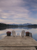Pair of Adirondack Chairs on a Dock at the Mirror Lake Inn