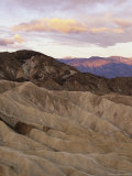 Twilight View From Zabriskie Point Over Eroded Hills in Death Valley