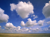 Cumulus Clouds Boiling Over a Saskatchewan Prairie in Summer