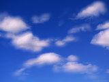 Blue Sky in Summer with Cumulus Clouds