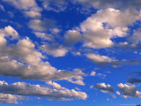 Blue Sky in Summer with Cumulus Clouds