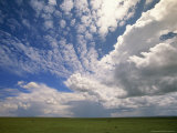 Cumulus Clouds Above Grasslands During the Short Rainy Season