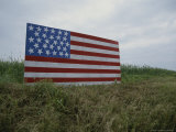 Patriotic Farmer's Roadside American Flag Painted on Plywood
