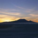 Silhouette of Mount Kilimanjaro at Sunset