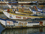 Colorful Fishing Boats in Elmina  Ghana