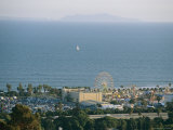 Ventura Fairgrounds  Sailboat  and Anacapa Island From Grant Park