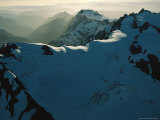 Mount Olympus and Other Snow-Capped Peaks in the Olympic Mountains
