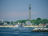 Cityscape View of Pilgrim Monument and Provincetown From the Water