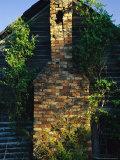 Chimney of an Old Log Cabin Homestead