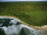 Elevated View of the Atlantic Coast of Gabon