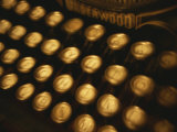 Blurred View of the Keys of an Old Underwood Typewriter