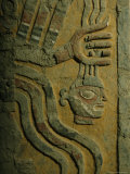 Moche Frieze Depicting the Decapitator God with a Severed Head
