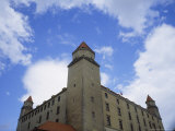 Bratislava Castle Looms Up Above the Viewer